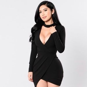 Fashion Nova- Break My Stride Dress - Black